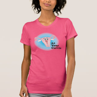 Camiseta Em seu t-shirt da cerviz