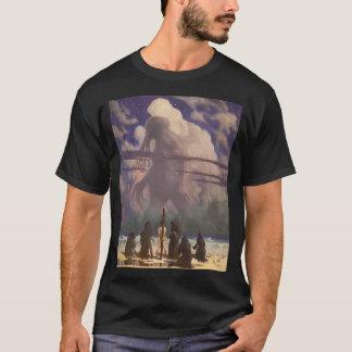 Camiseta Em sua casa em R'lyeh, Cthulhu inoperante espera o