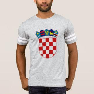 Camiseta emblema de croatia