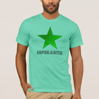 Camiseta emblema do esperantist