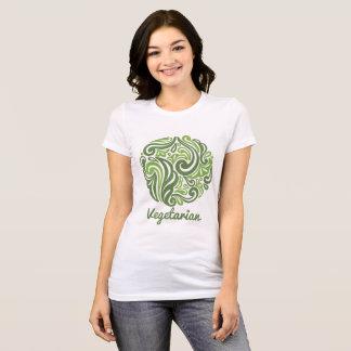 Camiseta Emblema do vegetariano