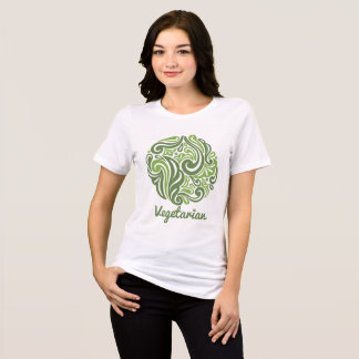 Camiseta Emblema do vegetariano