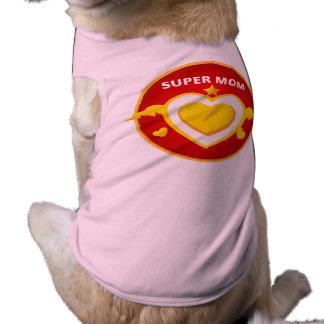 Camiseta Emblema engraçado da mamã do flash do super-herói