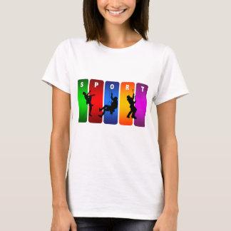 Camiseta Emblema multicolorido do alpinismo