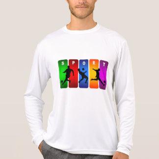 Camiseta Emblema multicolorido do futebol