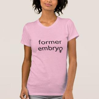 Camiseta embrião anterior (fêmea)