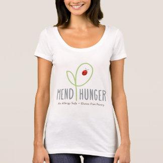 Camiseta Emende o t-shirt das mulheres do pescoço da colher