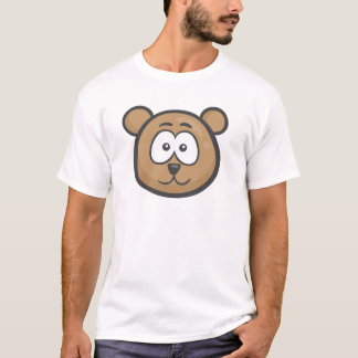 Camiseta Emoji: Cara do urso