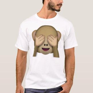 Camiseta Emoji do macaco do Ver-Nenhum-Mau