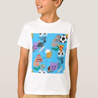 Camiseta emoji do menino