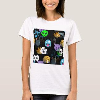 Camiseta emojis do Dia das Bruxas