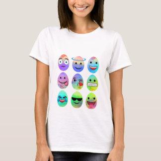 Camiseta Emojis engraçado, ovos de Emoji da páscoa, ovo do