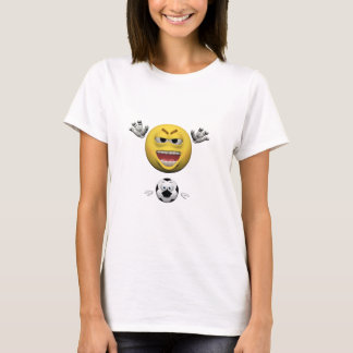 Camiseta Emoticon amarelo ou smiley do futebol