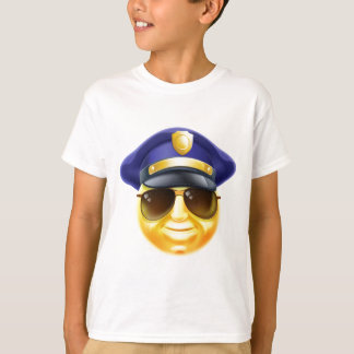 Camiseta Emoticon de Emoji da polícia