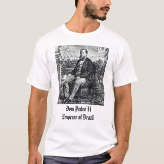 Camiseta emp, imperador dos DOM Pedro II de Brasil