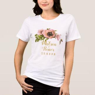 Camiseta Empregada doméstica dos ganhos da peônia/matrona