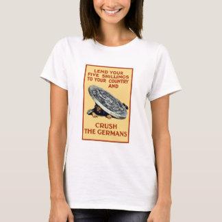 Camiseta Empreste seus xelins -- Esmague os alemães