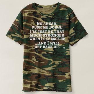 Camiseta Empurre-me abaixo do T do camo dos homens