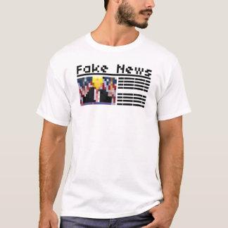 Camiseta Encabeçamento falsificado da notícia com artigo