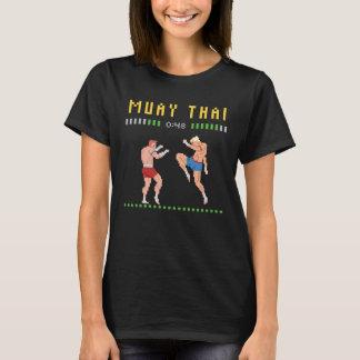 Camiseta encaixotamento tailandês de 8 bits
