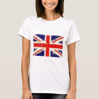 Camiseta Encanto BRITÂNICO do glitz da bandeira