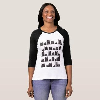 Camiseta Encantos de boa sorte 3/4 de t-shirt do Raglan da