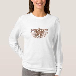 Camiseta Encapuçado longo-sleeved para mulheres