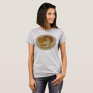 Camiseta Enchiladas do pintinho das mulheres com feijões &