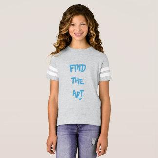 Camiseta Encontre a arte: O t-shirt da menina