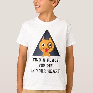 Camiseta Encontre um lugar para mim em seu coração