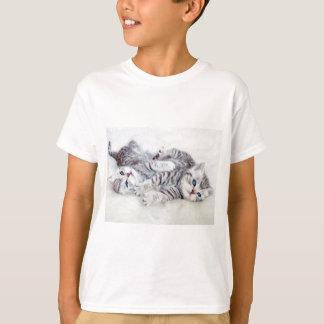 Camiseta Encontro novo do jogo de dois gatos de gato