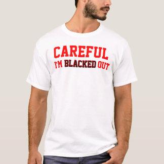 Camiseta Enegrecido para fora