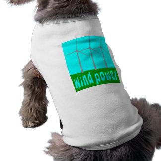 Camiseta Energias eólicas com turbinas e céu