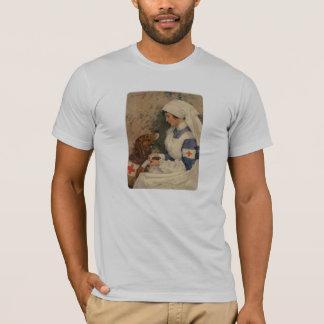 Camiseta Enfermeira com vintage WW1 do golden retriever
