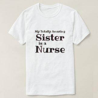 Camiseta Enfermeira da irmã que surpreende totalmente