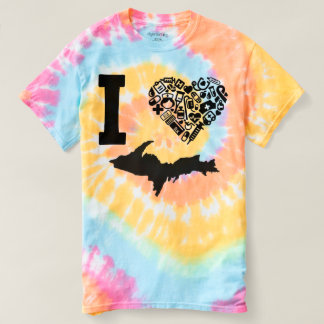 Camiseta Enfermeira de Yooper, I <3 Michigan, tintura do