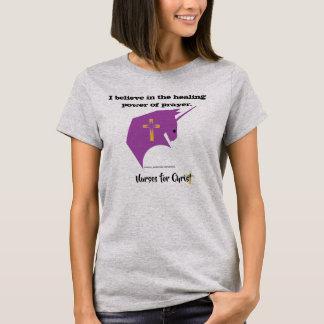 Camiseta Enfermeiras para o cristo o poder cura da oração