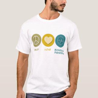Camiseta Engenharia biomedicável do amor da paz