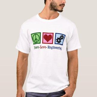 Camiseta Engenharia do amor da paz