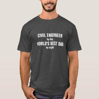 Camiseta Engenheiro civil pai do mundo do dia pelo melhor