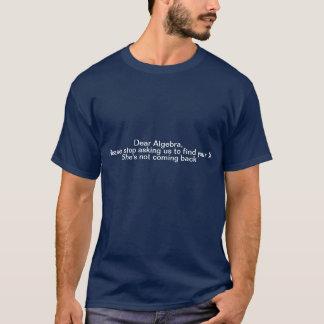 Camiseta engraçada da álgebra