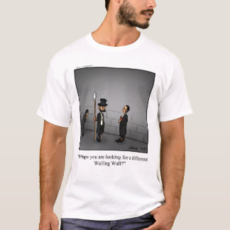 Camiseta engraçada da parede lamentando do capitão