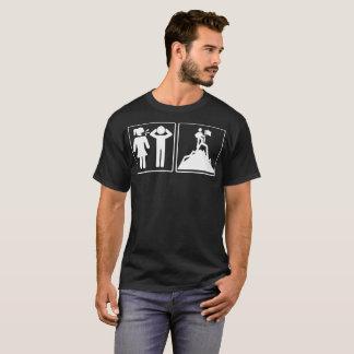 Camiseta engraçada do alpinismo da solução do