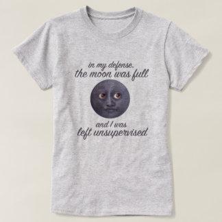 Camiseta Engraçado a lua estava completa & eu fui deixado