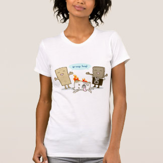 Camiseta Engraçado - abraço do grupo de S'Mores