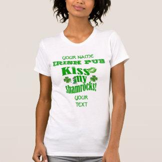 Camiseta Engraçado beijo meu trevos St Patrick