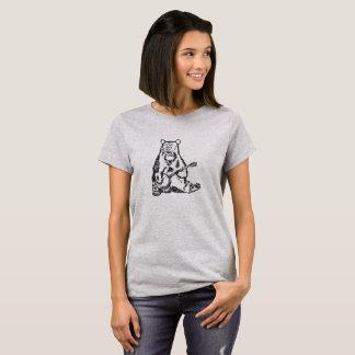 Camiseta Engraçado bonito do urso do banjo