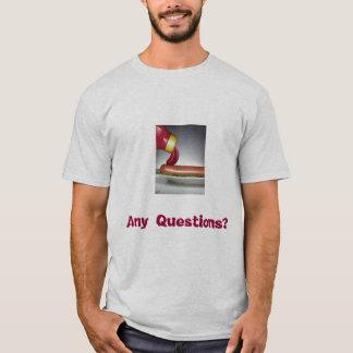 Camiseta engraçado-comida, alguma pergunta?
