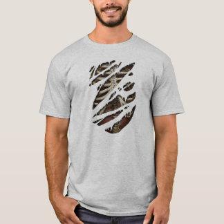 Camiseta Engraçado de esqueleto do corpo rasgado