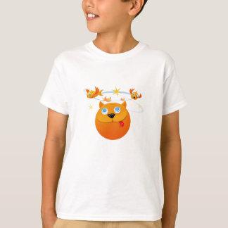 camiseta engraçado do gato para o bebê e os miúdos